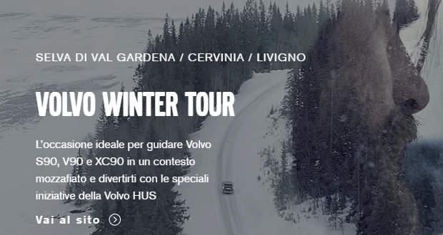 Con il Volvo Winter Tour 2017 puoi guidare Volvo S90, V90 e XC90 sulla neve.